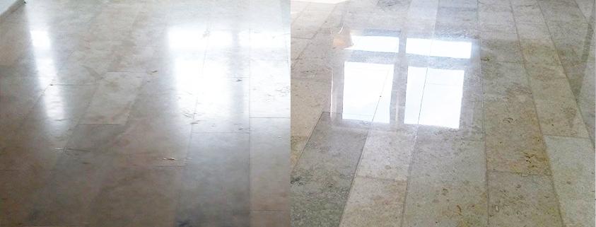 Steinflächen sanieren und Vergleich neu verlegen zu Sanierung