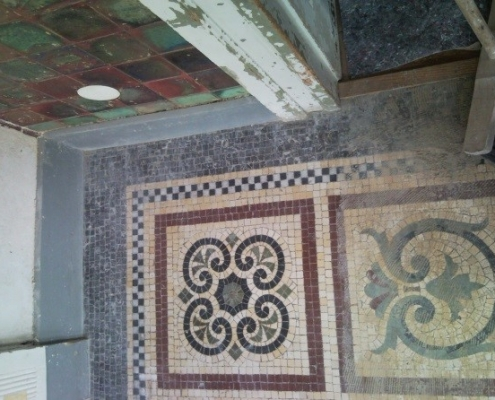 Denkmalpflege Mosaik nachher